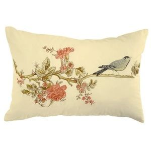Other - Waverly Pillow Cape Coral Sparrow on Branch 14x20